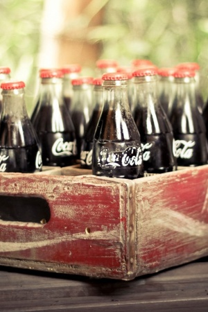Old Coca Cola Bottles Mobile Wallpaper