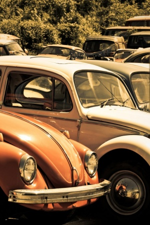 Old Volkswagen Beetle Junkyard Mobile Wallpaper