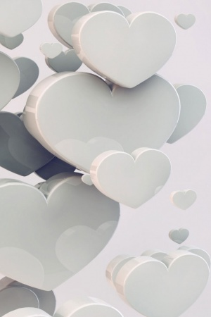 Wedding Hearts Mobile Wallpaper