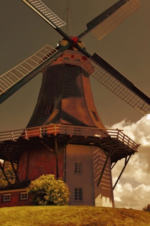 Windmills In The Netherlands Mobile Wallpaper