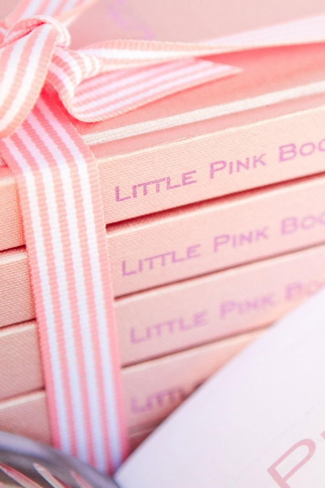 Cute Pink Books Mobile Wallpaper