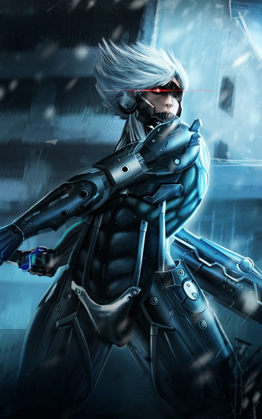 metal gear rising raiden mobile wallpaper - mobiles wall