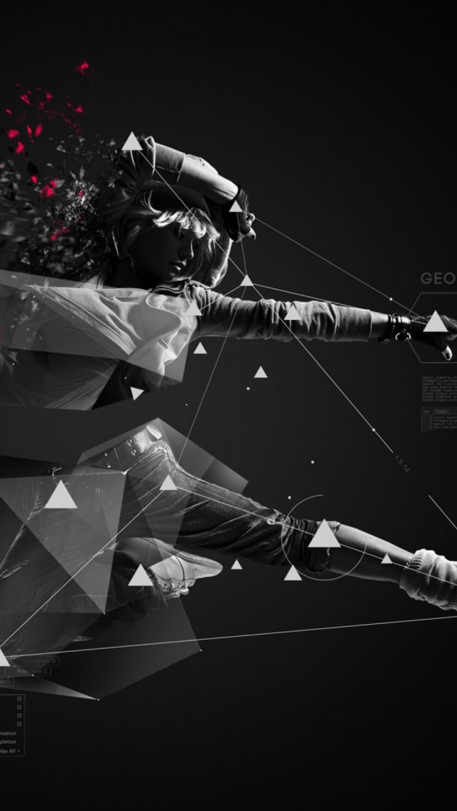 3d Abstract Polygon Mobile Wallpaper Mobiles Wall Download Iphone