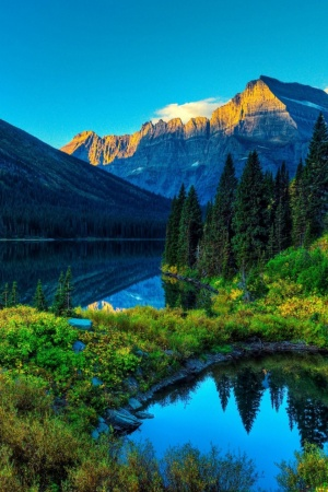 Lake Mountain Scenery Mobile Wallpaper