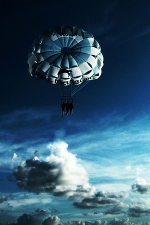 Sky Parachuting Mobile Wallpaper