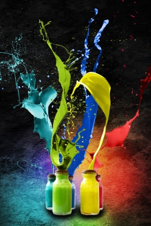 Splash of Colors Mobile Wallpaper