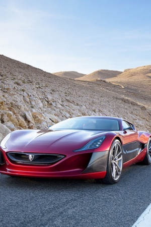 rimac concept one superkar Mobile Wallpaper