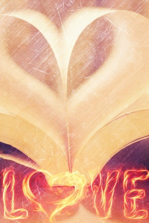 Love Book Mobile Wallpaper