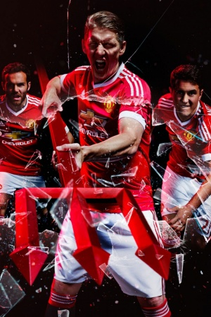 Manchester United new T-shirt Adidas Mobile Wallpaper