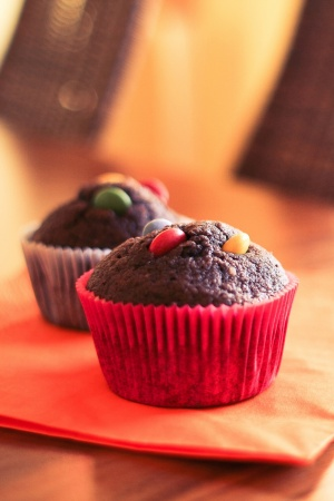 Two Delicious & Yummy Muffins Mobile Wallpaper
