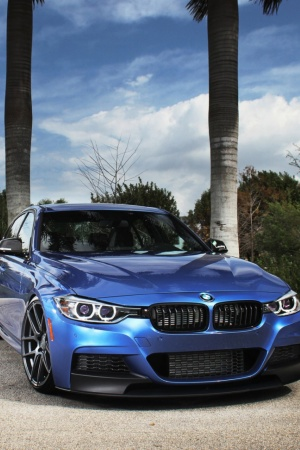 bmw f30 blue tuning bmv Mobile Wallpaper
