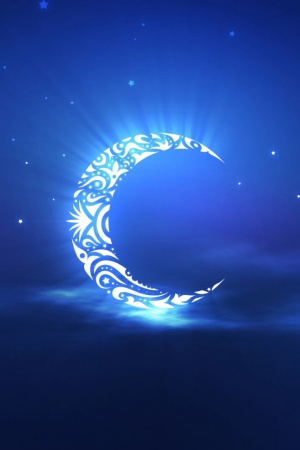 holy ramadan moon Mobile Wallpaper