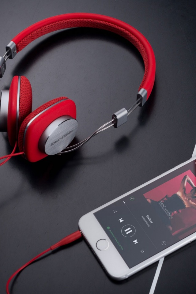 Red Bowers And Wilkins P3 Headphones Mobile Wallpaper