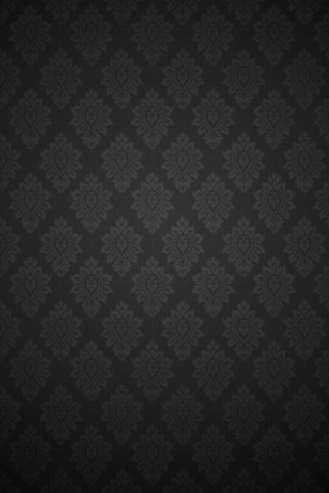 Black Baroque Pattern Mobile Wallpaper
