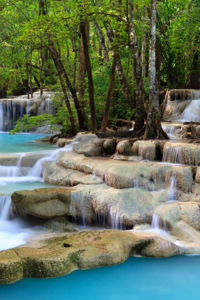Tropical waterfall mobile wallpaper mobiles wall download now voltagebd Image collections