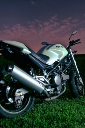 Evening Bike Motorbike Motorcycle Mobile Wallpaper