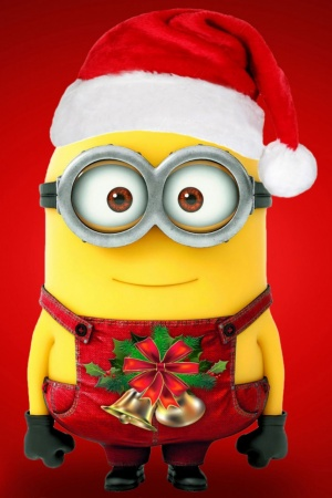 Merry Christmas Minions Mobile Wallpaper
