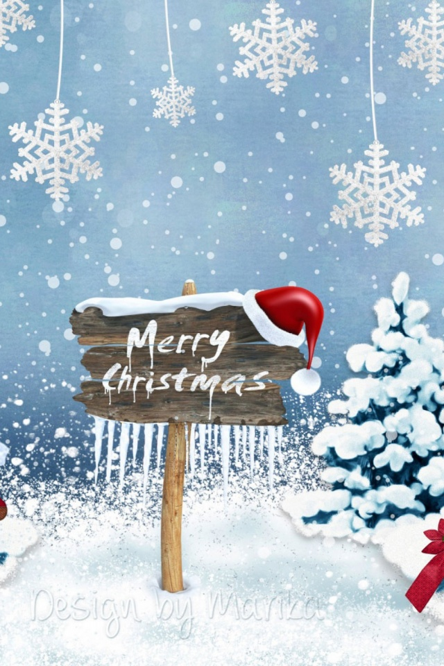 Merry Christmas 2016 Mobile Wallpaper Mobiles Wall
