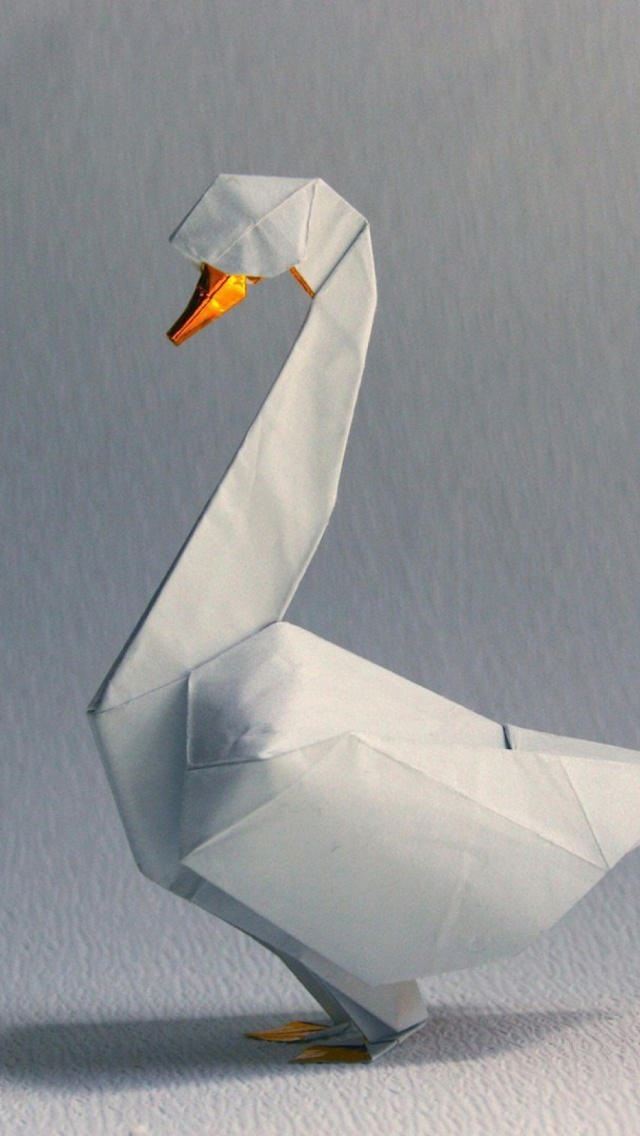 Origami Swan Shadow White Mobile Wallpaper Mobiles Wall